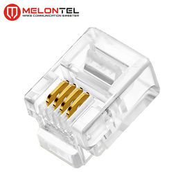 China MT-5051 RJ11 Modular Plug 4P4C 6P4C Plug RJ11 Modular Connector With Gold Plated fabriek