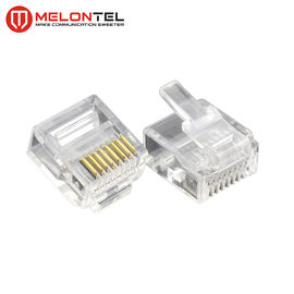 China MT-5053S RJ45 Modular Plug  Gold Plated RJ45 8P8C Small Plug Cat5E Cat6 Cat7 Modular Connector fabriek