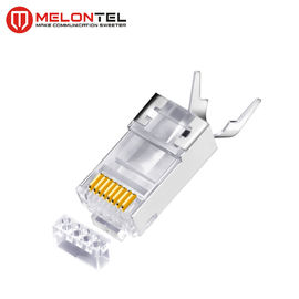 China MT-5054 RJ45 Modular Plug Metal Shield RJ45 8P8C Cat7 FTP Plug With Gold Plated fabriek